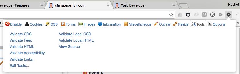 html validator chrome addon